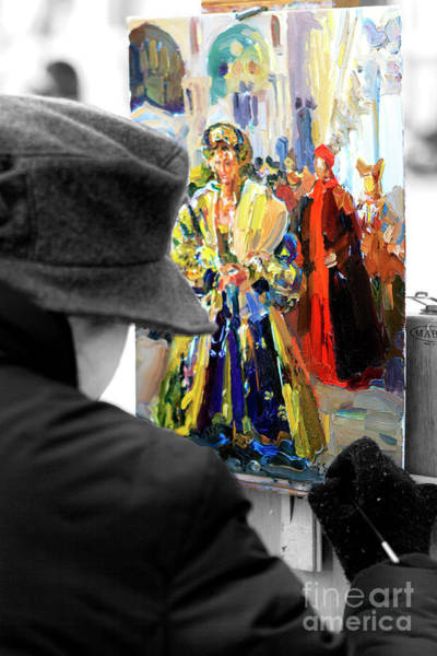 Photograph - Venice Artist In Piazza San Marco by John Rizzuto