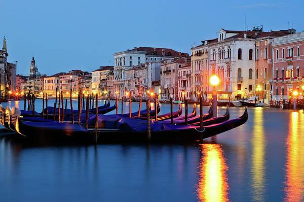 City Of David Photograph - Venice At Night by David Boxer