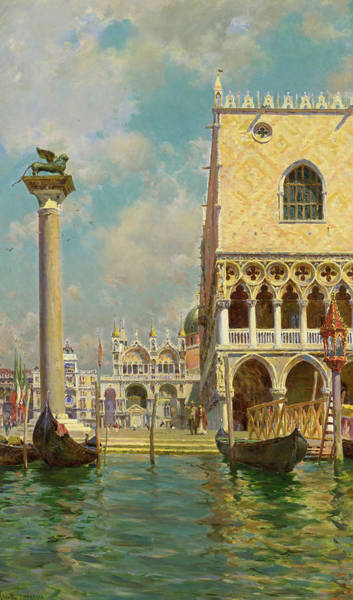 Wall Art - Painting - Venice by Augusto Lovatti