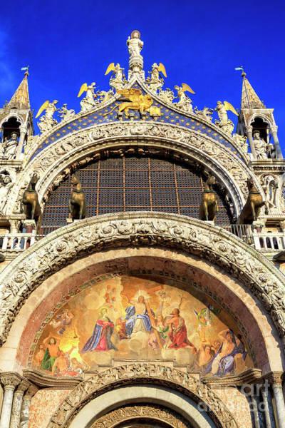 Photograph - Venice Basilica Di San Marco Main Portal by John Rizzuto
