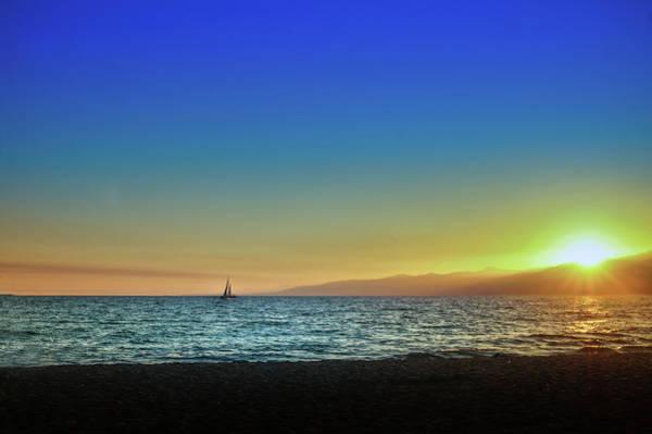 Wall Art - Photograph - Venice Beach At Sunset by Art Spectrum