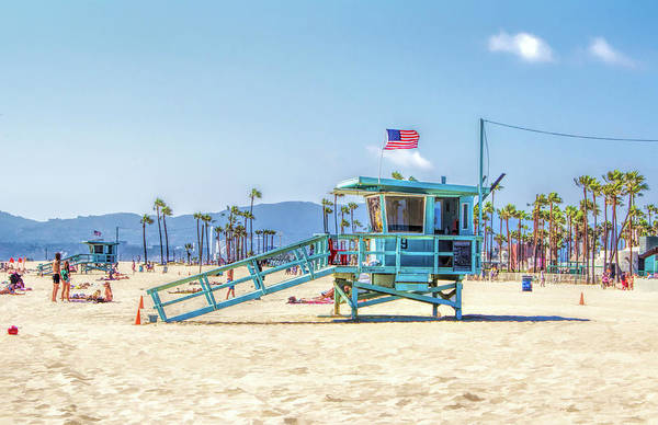 Painting - Venice Beach Lifeguard Station by Christopher Arndt