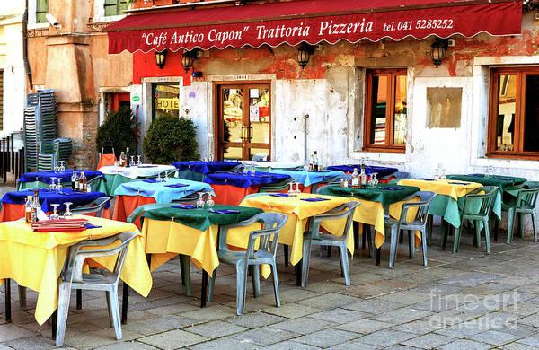 Photograph - Venice Cafe Antico Capon by John Rizzuto