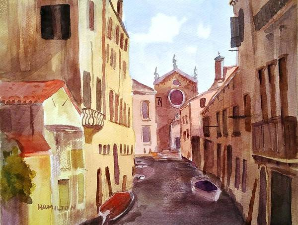 Painting - Venice Canal by Larry Hamilton