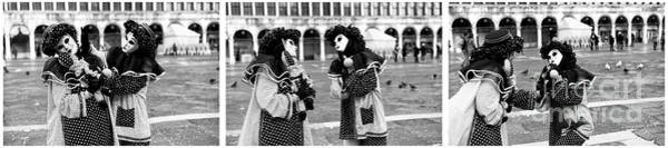 Photograph - Venice Carnival 2015 Triptych by John Rizzuto