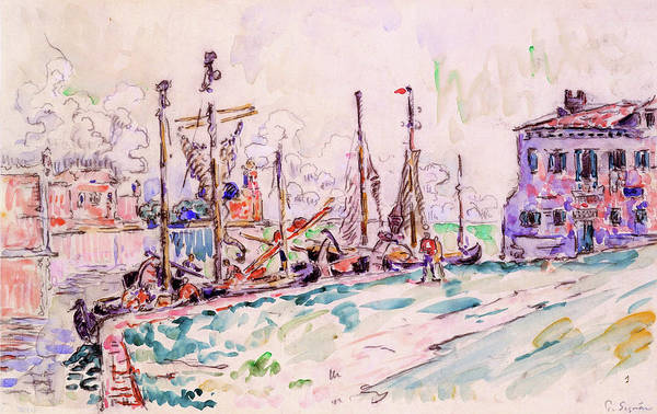 Neo-impressionism Wall Art - Painting - Venice - Digital Remastered Edition by Paul Signac