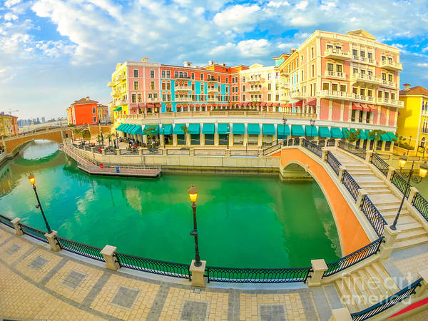 Photograph - Venice Doha The Pearl by Benny Marty