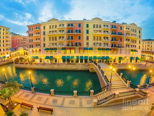 Photograph - Venice Doha Two Bridge by Benny Marty