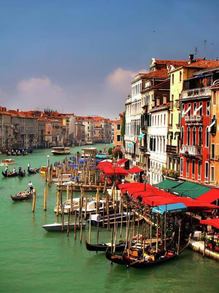 Grand Hotel Photograph - Venice From Rialto Bridge by Raspu