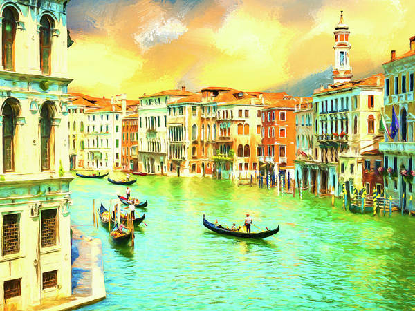 Painting - Venice Gondoliers by Dominic Piperata