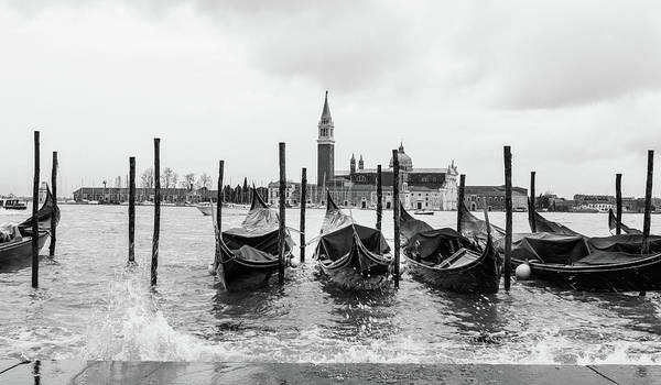 Photograph - Venice Grand Canal Gondolas  by Georgia Fowler