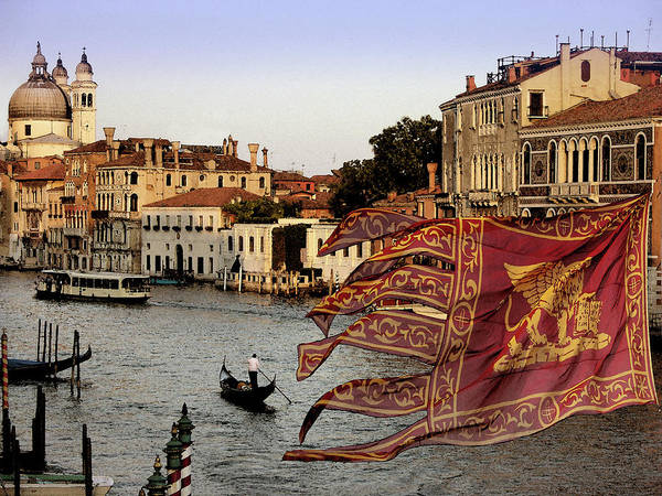 Old Town Digital Art - Venice Grand Canal by Images Etc Ltd