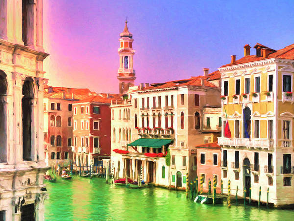 Painting - Venice Grand Canal Near Rialto Bridge by Dominic Piperata