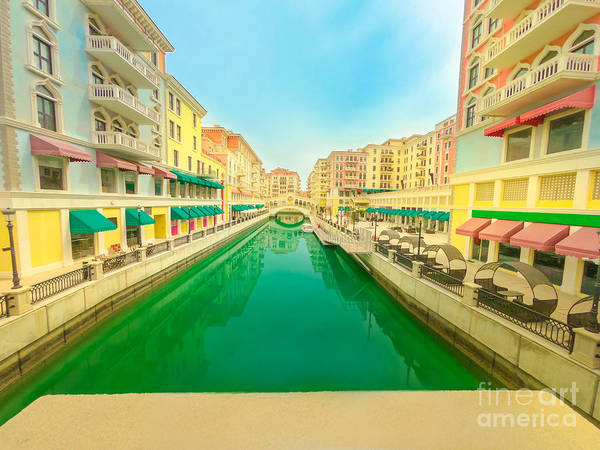 Photograph - Venice In Doha Reflection by Benny Marty