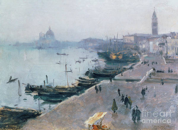Wall Art - Painting - Venice In Grey Weather by John Singer Sargent