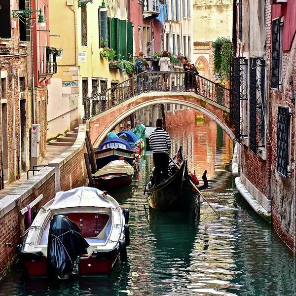 Wall Art - Photograph - Venice In Square Form by Frozen in Time Fine Art Photography