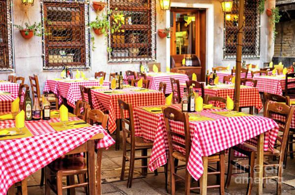 Photograph - Venice Italian Dining by John Rizzuto
