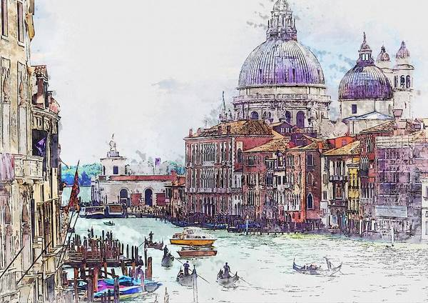 Ancient Architecture Digital Art - Venice - Italy by ArtMarketJapan
