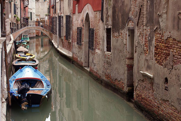 Motorboat Photograph - Venice, Italy by Travel Ink