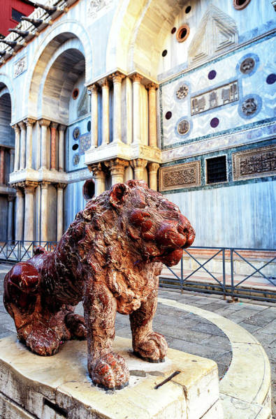Lion Of St Mark Photograph - Venice Lion At Piazzetta Dei Leoncini by John Rizzuto