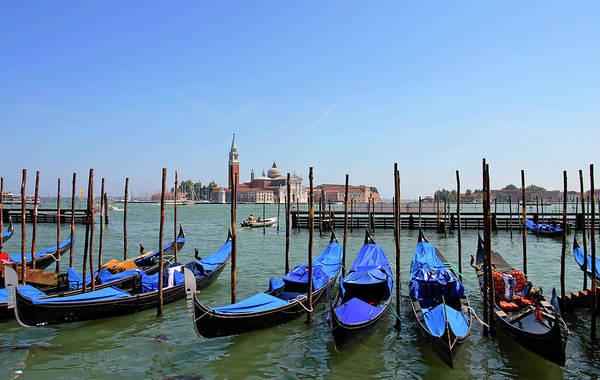 St Mark's Basilica Photograph - Venice - Parked Gondolas by Ramberg