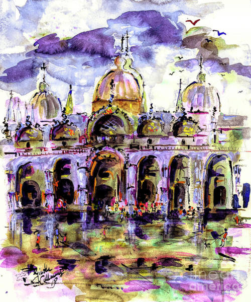 Mixed Media - Venice Piazza San Marco by Ginette Callaway