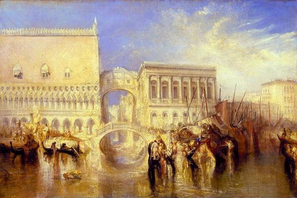 Wall Art - Painting - Venice, The Bridge Of Sighs - Digital Remastered Edition by William Turner