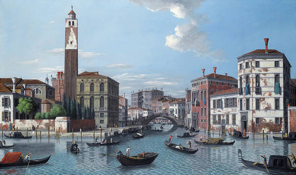 Wall Art - Painting - Venice, The Entrance To The Grand Canal by Venetian School