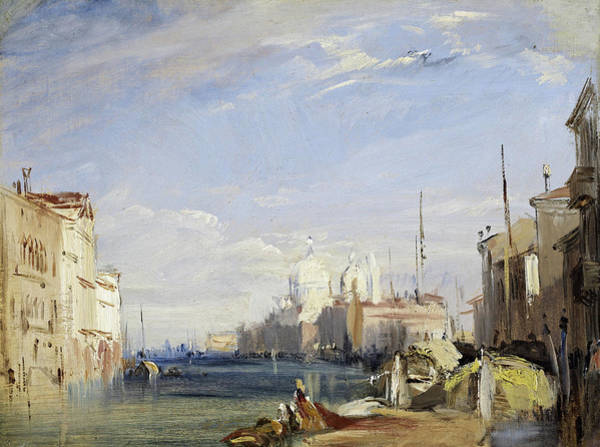 Wall Art - Painting - Venice - The Grand Canal, 1826 by Richard Parkes Bonington