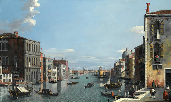 Wall Art - Painting - Venice, The Grand Canal by Venetian School