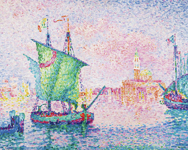 Wall Art - Painting - Venice, The Pink Cloud - Digital Remastered Edition by Paul Signac