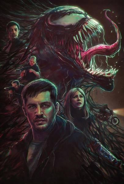 Tobey Digital Art - Venom 2018  by Geek N Rock