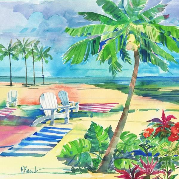Wall Art - Painting - Ventura Beach Square II by Paul Brent