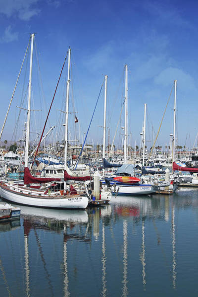Sailing Photograph - Ventura Harbor  By Linda Woods by Linda Woods