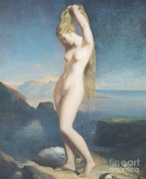 Wall Art - Painting - Venus Anadyomene, Or Venus Of The Sea, 1838 by Theodore Chasseriau