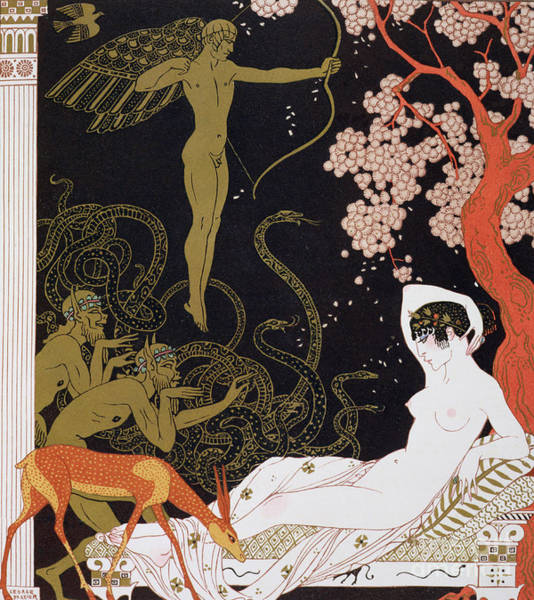 Wall Art - Painting - Venus, Or La Belle Helene  by Georges Barbier