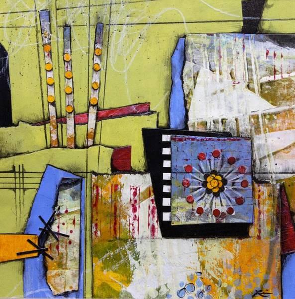 Abstract Flower Mixed Media - Venus Retrograde  by Laura Lein-Svencner