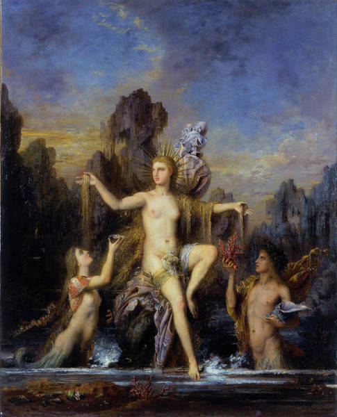 Wall Art - Painting - Venus Rising From The Sea - Digital Remastered Edition by Gustave Moreau