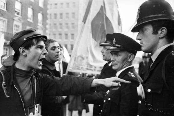 Police Force Photograph - Verbal Protest by Clive Limpkin