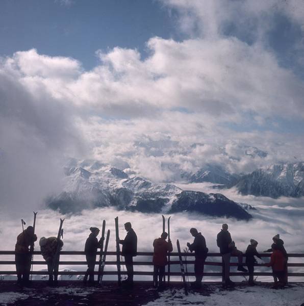 Square Photograph - Verbier View by Slim Aarons