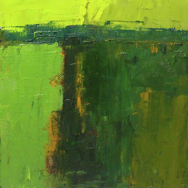 Dark Olive Green Wall Art - Painting - Verdant Abstract by Nancy Merkle