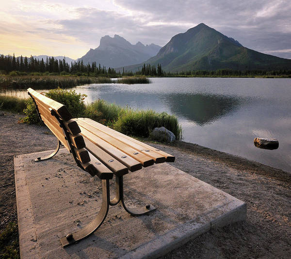 Vermillion Lakes Wall Art - Photograph - Vermilion Bench by Paul Bruins Photography