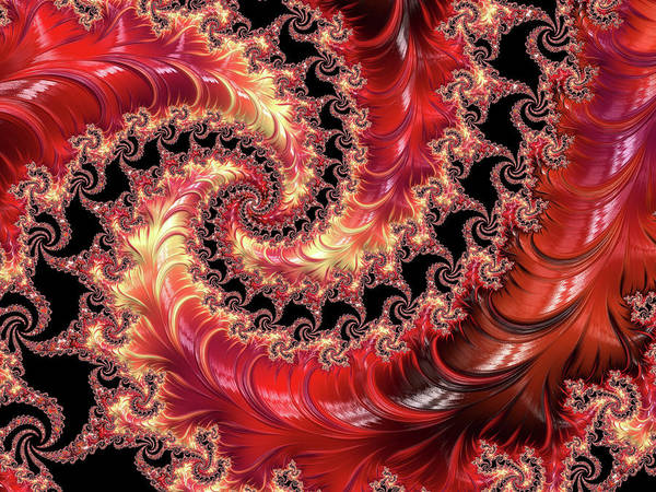 Mixed Media - Vermillion Swirl Abstract by Isabella Howard