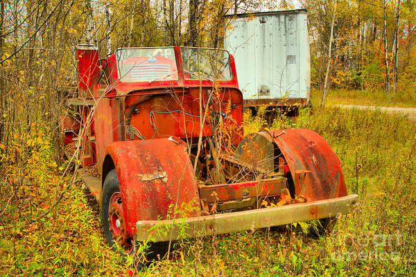 Photograph - Vermont Antique Fire Truck by Adam Jewell