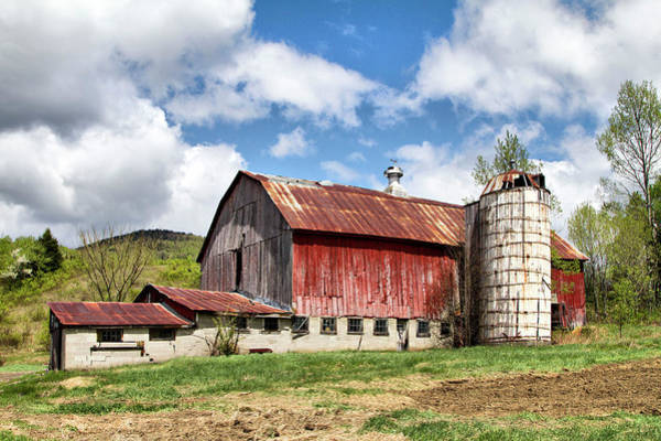 Photograph - Vermont Barn And Silo  by Betty Pauwels