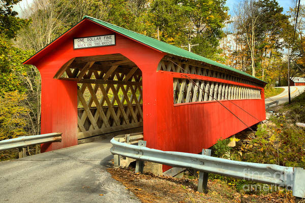 Photograph - Vermont Chiselville Covered Bridge by Adam Jewell