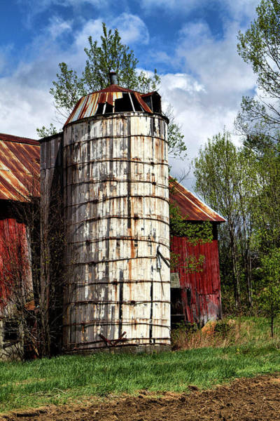 Photograph - Vermont Farmhouse Silo  by Betty Pauwels