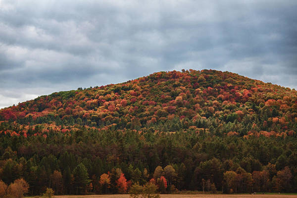 Photograph - Vermont Hill In Fall Colors by Jeff Folger