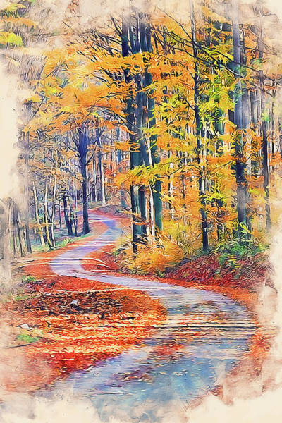 Painting - Vermont, Landscape - 11 by Andrea Mazzocchetti