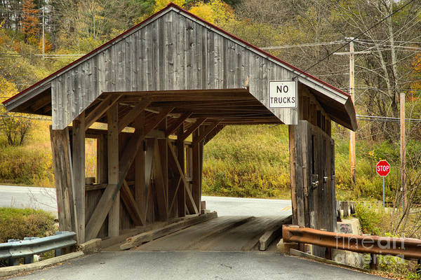 Photograph - Vermont School Road Covered Bridge by Adam Jewell